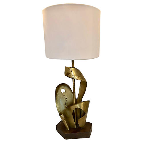 Yasha Heifetz Brass Sculpture Table Lamp