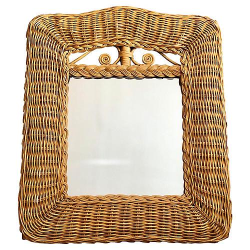 Small Rattan Mirror