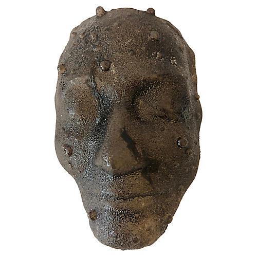 Handmade Artistic Glass Face Sculpture
