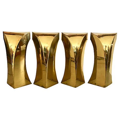 4 Bronze Coffee Table Legs