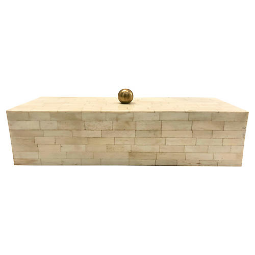 Long Tessellated Bone Box