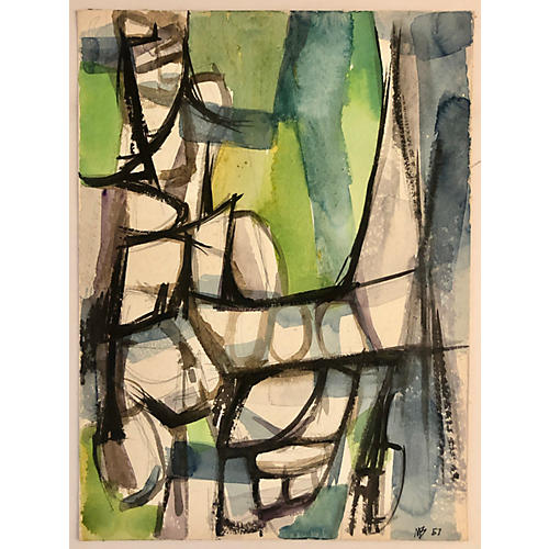 Green Watercolor By M.Bevington '57