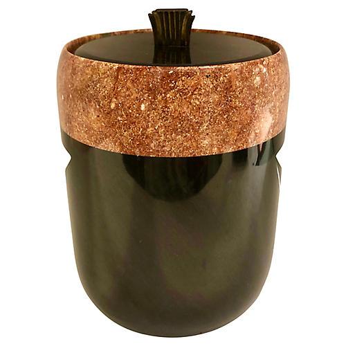 Art Deco-Style Marble Ice Bucket