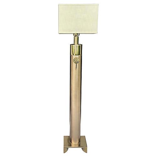Asian Inspired Floor Lamp w/ Shade