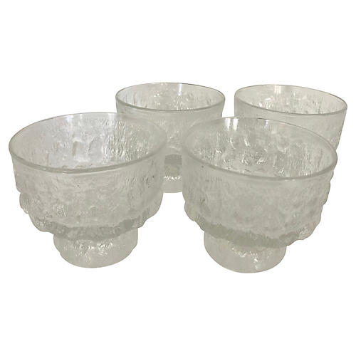 1970s Brutalist Glasses, S/4