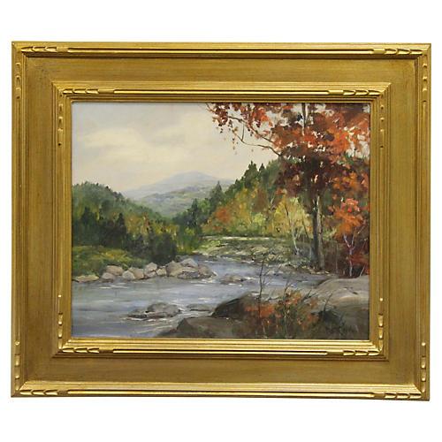 New England Landscape by P. Strisik