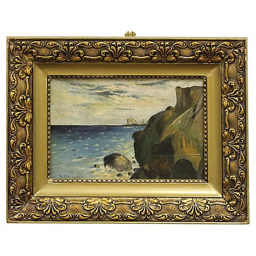 Rocky Cliffs by G. Petrașcu