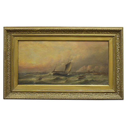 Cutter at Sea by W. H. Williamson