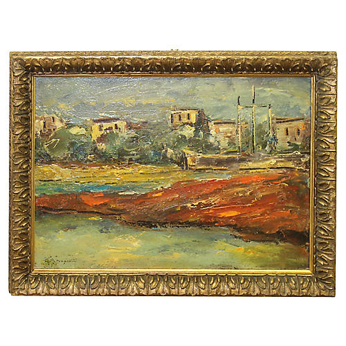 Colorful Impressionist oil by G.Patrascu