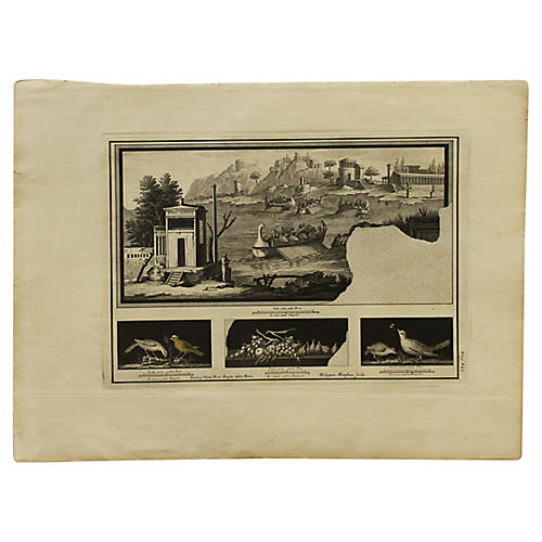 Engraving of Rome Harbor
