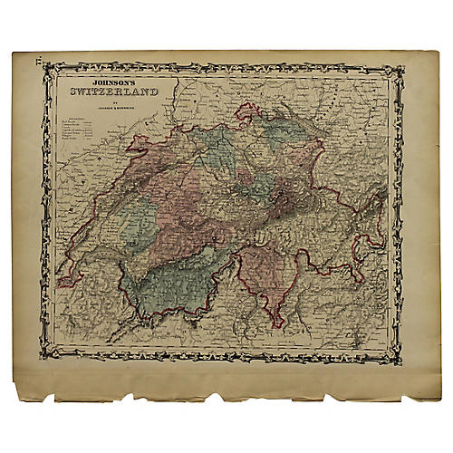 Antique Map of Switzerland