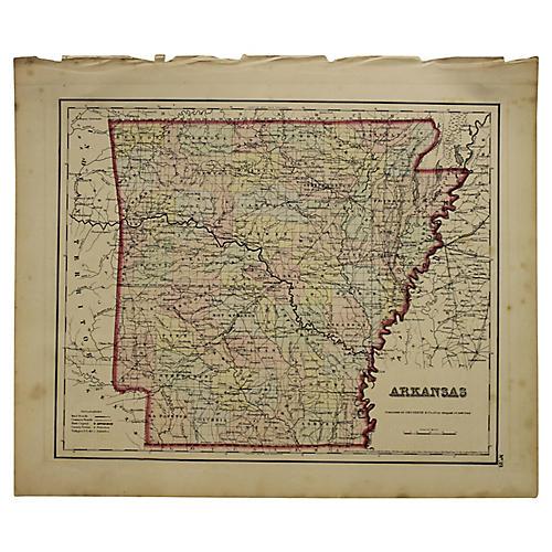 Antique Map of Arkansas