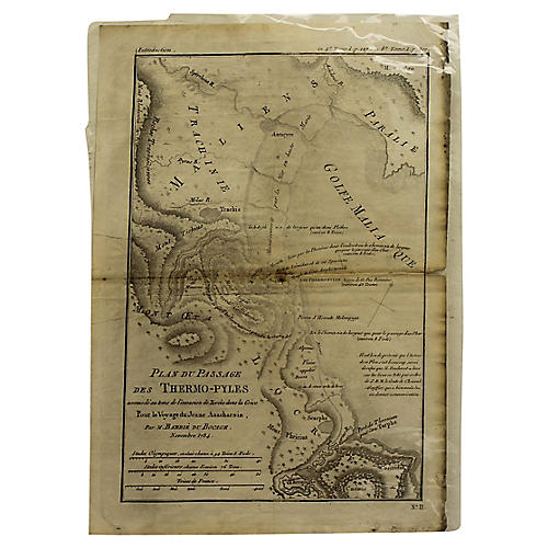 Antique Map of Thermopylae