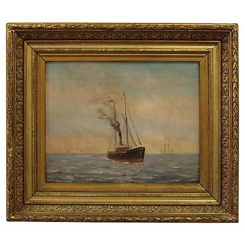 Steamship by A. Jaboneau