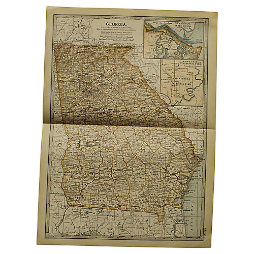 Antique Map of Georgia