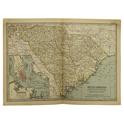 Antique Map of South Carolina