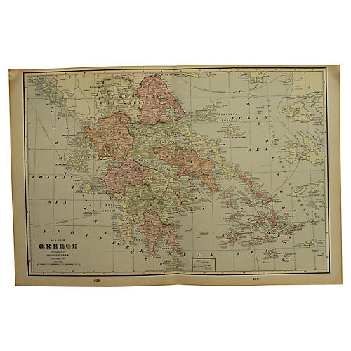 Antique Map of Greece