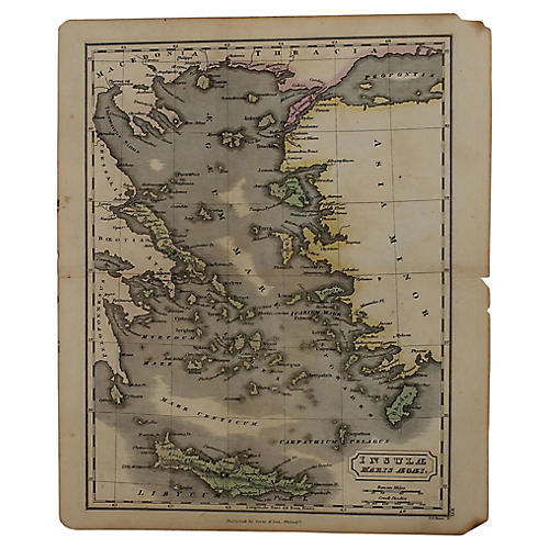 Antique Map of the Greek Isles