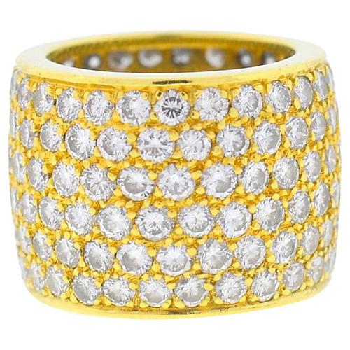 18K Six-Row Diamond Ring