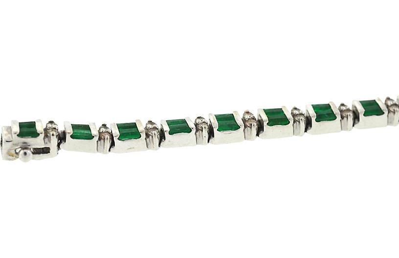 14K Emerald & Diamond Bracelet