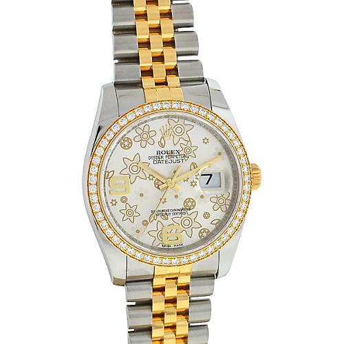 Rolex 116243 Datejust Flower Dial Watch