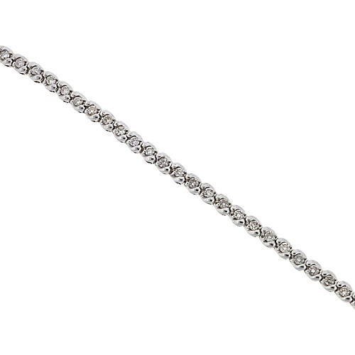 14K White Gold & Diamond Tennis Bracelet