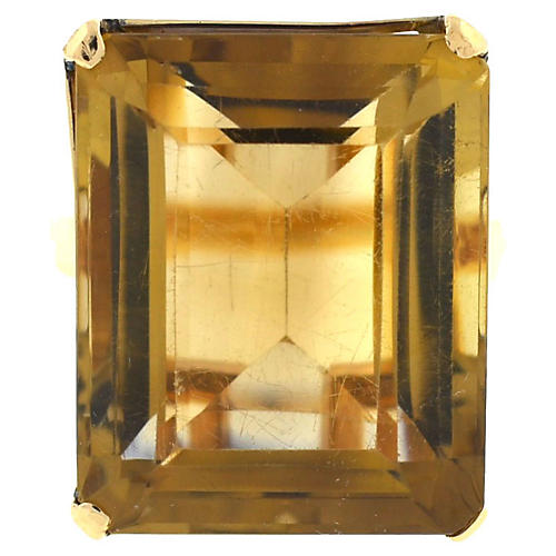 14K Gold & Smoky Quartz Ring