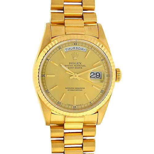18K Rolex 18238 President Watch