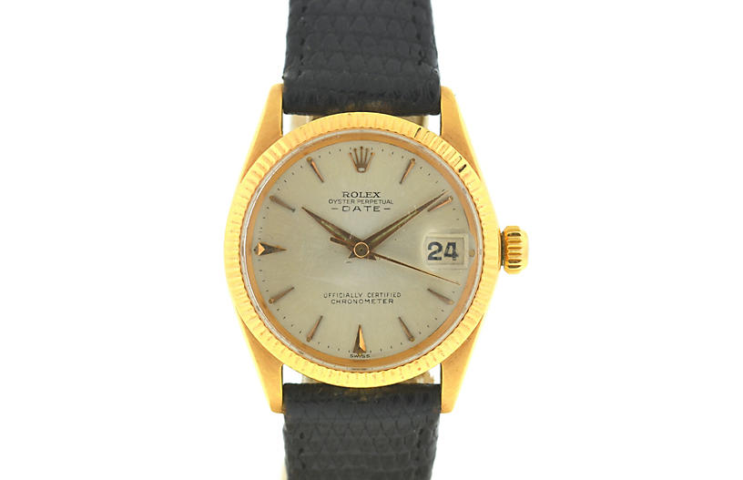 Rolex Vintage Date Gold Automatic Watch