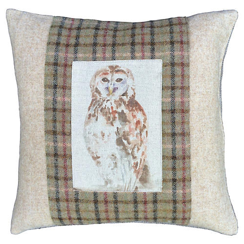 Scottish Wool & Linen Owl Down Pillow