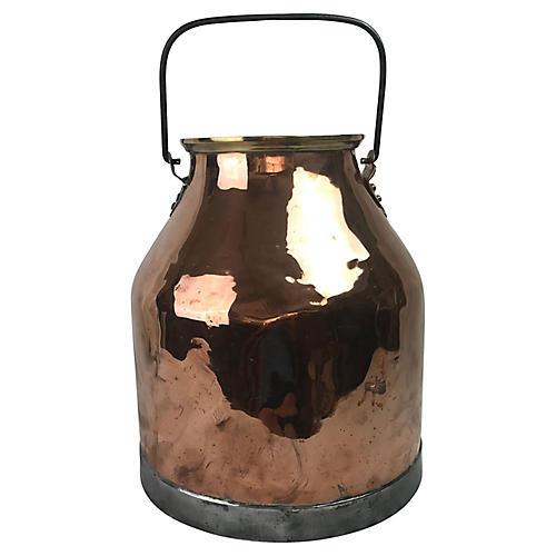 English Copper Milk Jug