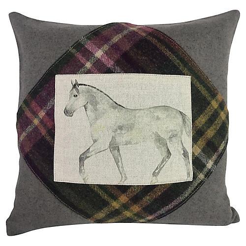 Scottish Horse Pillow