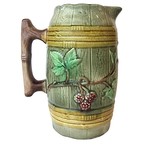English Majolica Jug