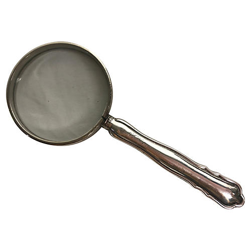 English Sterling Silver Magnifying Glass