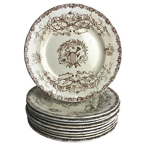 French Luncheon Plates, S/10