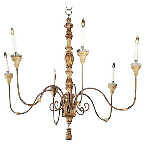 European 6-light Chandelier