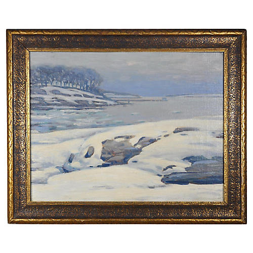 Impressionist Winter on the Water
