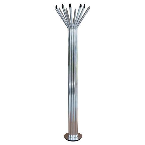 Chrome Tubular Floor Lamp by Kovacs