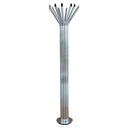 Chrome Tubular Floor Lamp by Kovacs