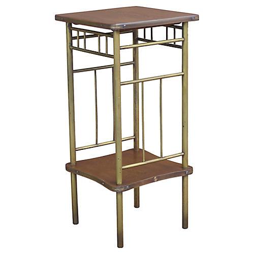 Rockhausen Art Deco Brass & Wood Table