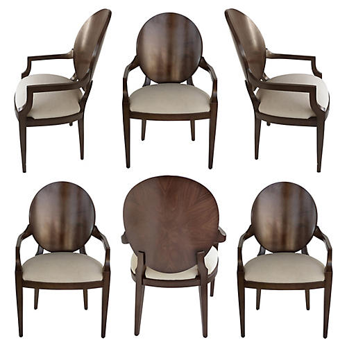 Kreiss Collection Armchairs, S/6