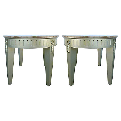 Marble-Top Tables, Pair
