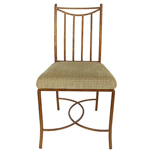 Iron Faux-Bois Chair by Swaim