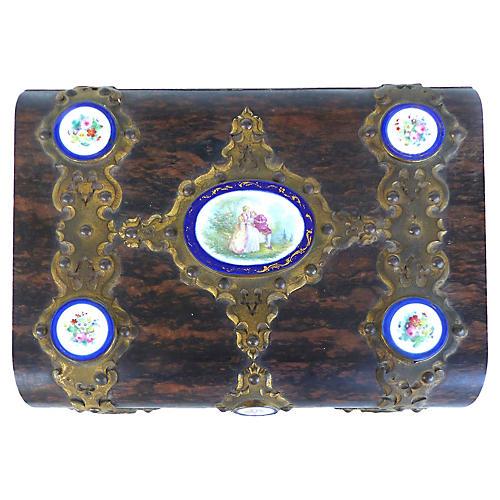 19th-C. Bronze Lap Desk