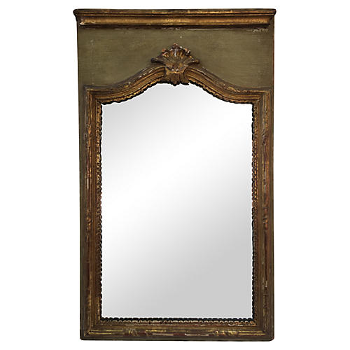 19th Century Italian Parcel-Gilt Mirror