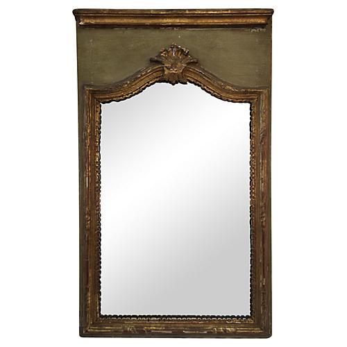 19th Century Italian Parcel-Gilt Mirror