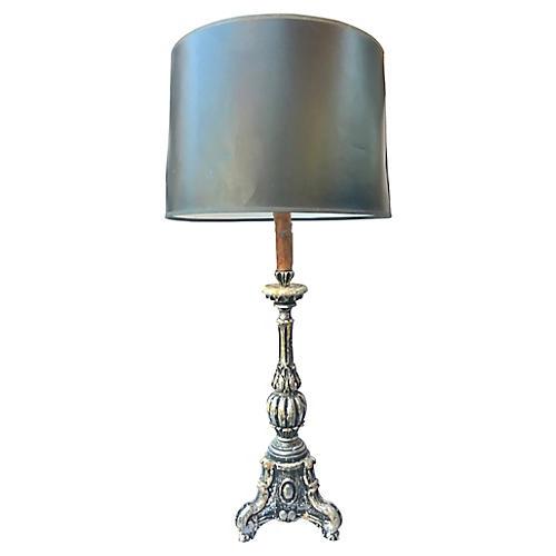 Italian Parcel-Gilt Lamp