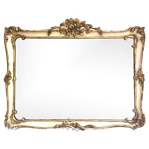 18th-C French Diamond Dust Mirror