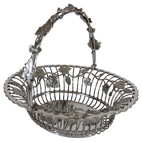 Basket with Handle English SP c. 1860