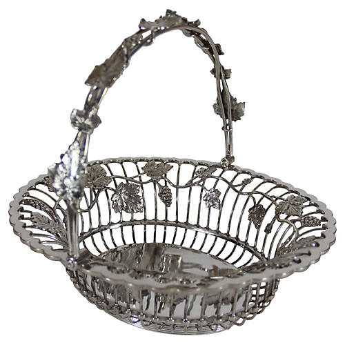 Basket with Handle English SP c. 1860